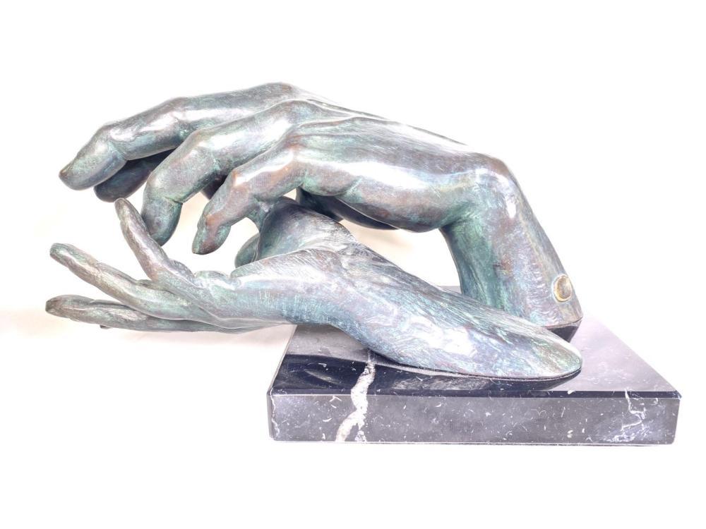 "Lorenzo Quinn ""After Love"" Bronze Resin Signed Sculpture"