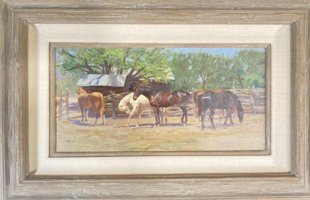 "Sherry Blanchard Stuart ""Mesquite Fence Study"" Original Oil on Canvas"