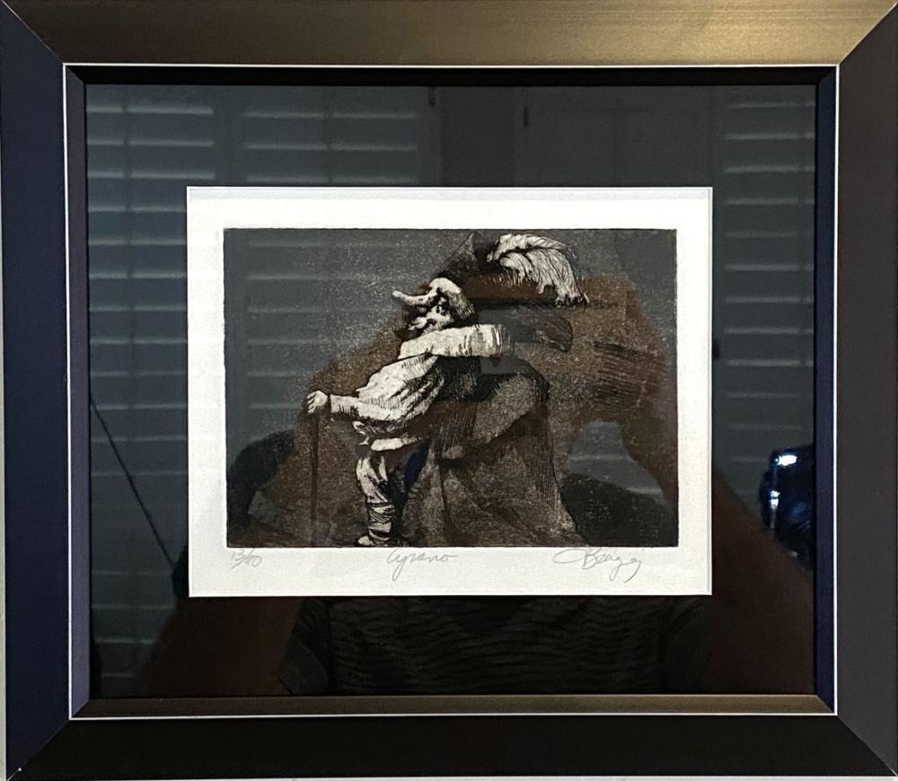 "Charles Bragg ""Cyrano"" Signed Lithograph #13/90"