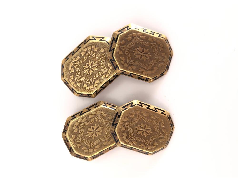 Antique 14K Gold Victorian Cufflinks