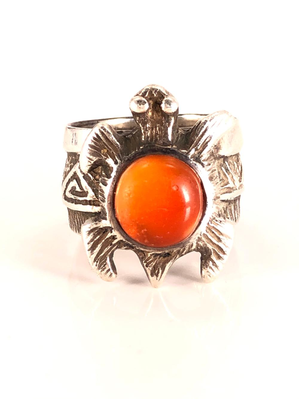 Native American Denipah Signed Silver Ring