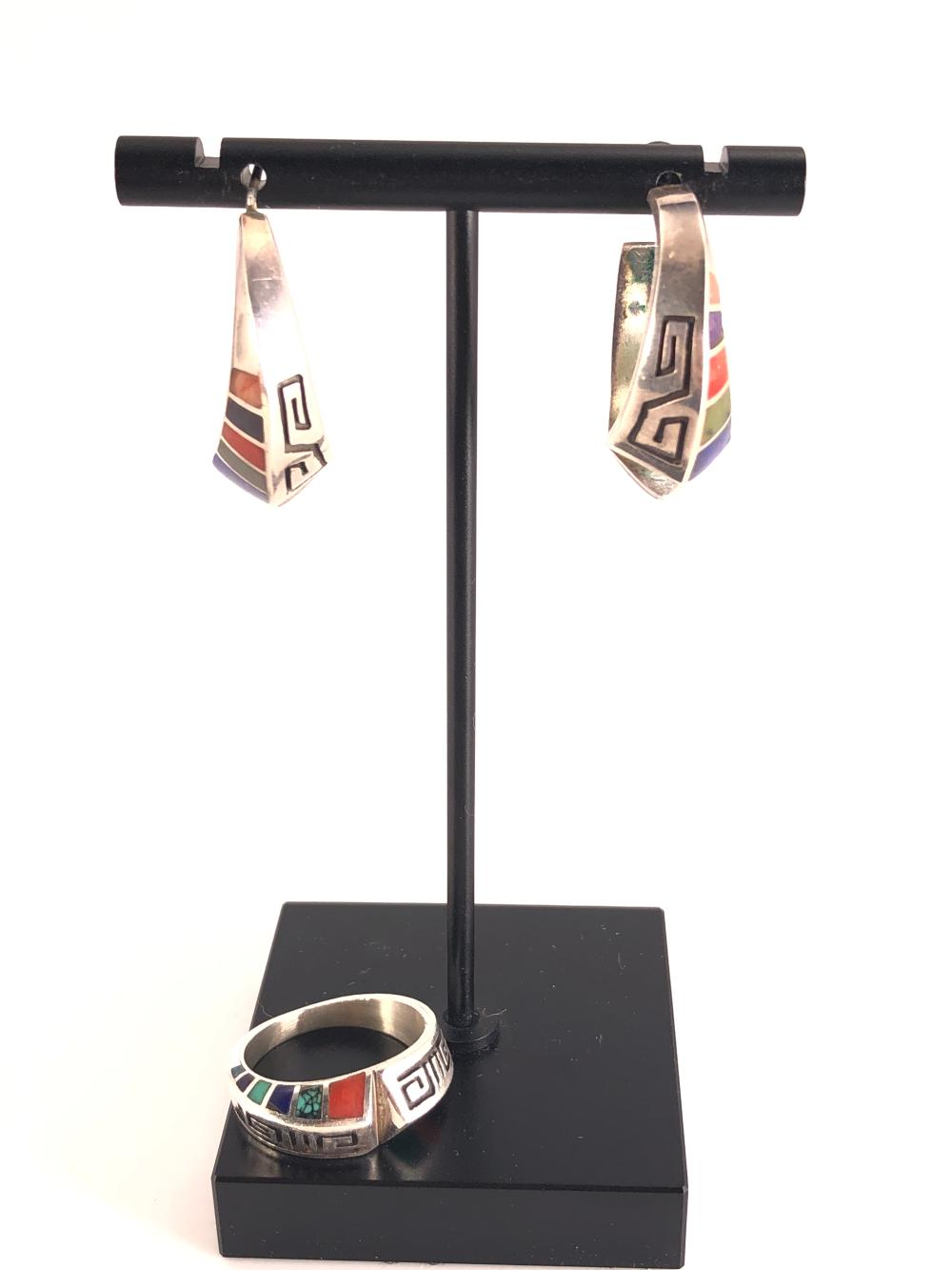 Lonn Parker Native American Sterling Silver Jewelry Suite