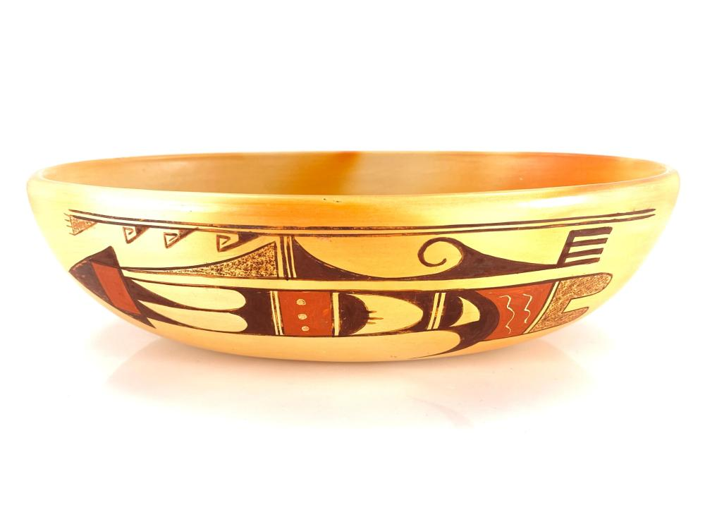 Native American Donna Adams Tewa Hopi Pottery Bowl