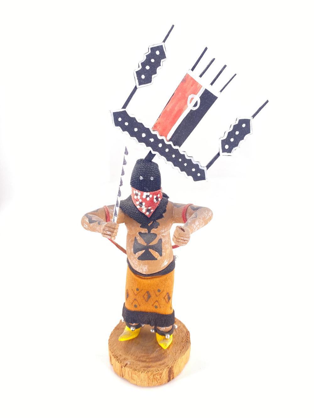 Native American Apache Spirit Dancer Wood Kachina