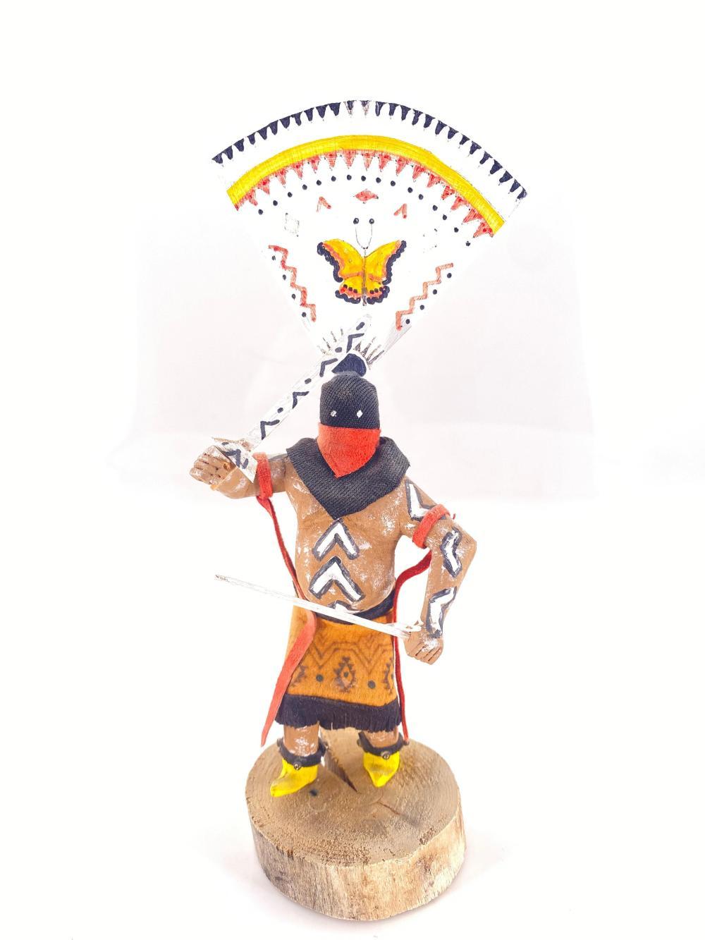 Native American Apache Crown Dancer Wood Kachina