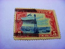 EARLY U.S. AIRMAIL STAMP
