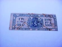 1860 BELGIUM REVENUE STAMP
