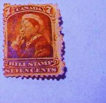 CANADA QUEEN VICTORIA BILL STAMP
