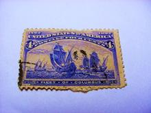 1892 COLUMBIAN EXPO 4 CENT STAMP