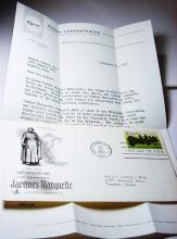1968 JAQUES MARQUETTE FIRST DAY COVER