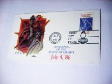 1986 STATUE OF LIBERTY FIRST DAY COVER
