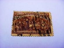 1892 COLUMBIAN EXPO 5 CENT STAMP