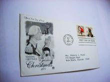 1977 CHRISTMAS FIRST DAY COVER