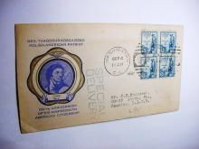 1933 KOSCIUSZKO FIRST DAY COVER