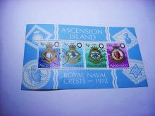 1972 ASCENSION ROYAL NAVY SOUVENIR SHEET