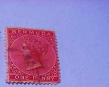 EARLY BERMUDA QUEEN VICTORIA STAMP