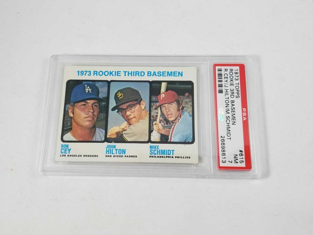 1973 Topps 615 Baseball Mike Schmidt John Hilton Ron Cey