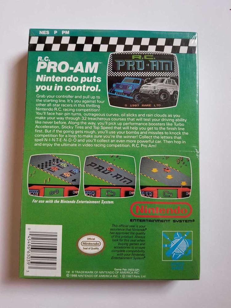 Vintage R C Pro Am 32 Tracks Of Racing Thrills Nes Nintendo Entertainment System Factory Sealed Video Game