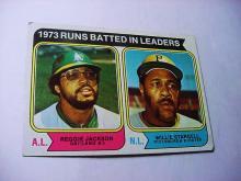 1974 TOPPS # 203 RBI LEADERS BASEBALL CARD