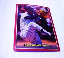 DONRUSS'84  # 59 DAVE RIGHETTI PITCHER  BASEBALL CARD