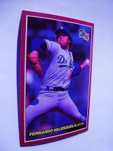 DONRUSS'84  # 13 FERNANDO VALENZUELA  PITCHER   BASEBALL CARD