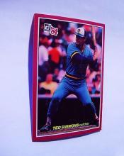 DONRUSS'84  # 58   TED SIMMONS  CATCHER   ERROR  BASEBALL CARD