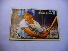 1951  #  222 BOWMAN THURMON TUCKER BASEBALL CARD