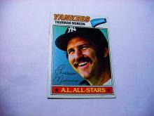 1977  # 170 TOPPS THURMAN MUNSON BASEBALL CARD
