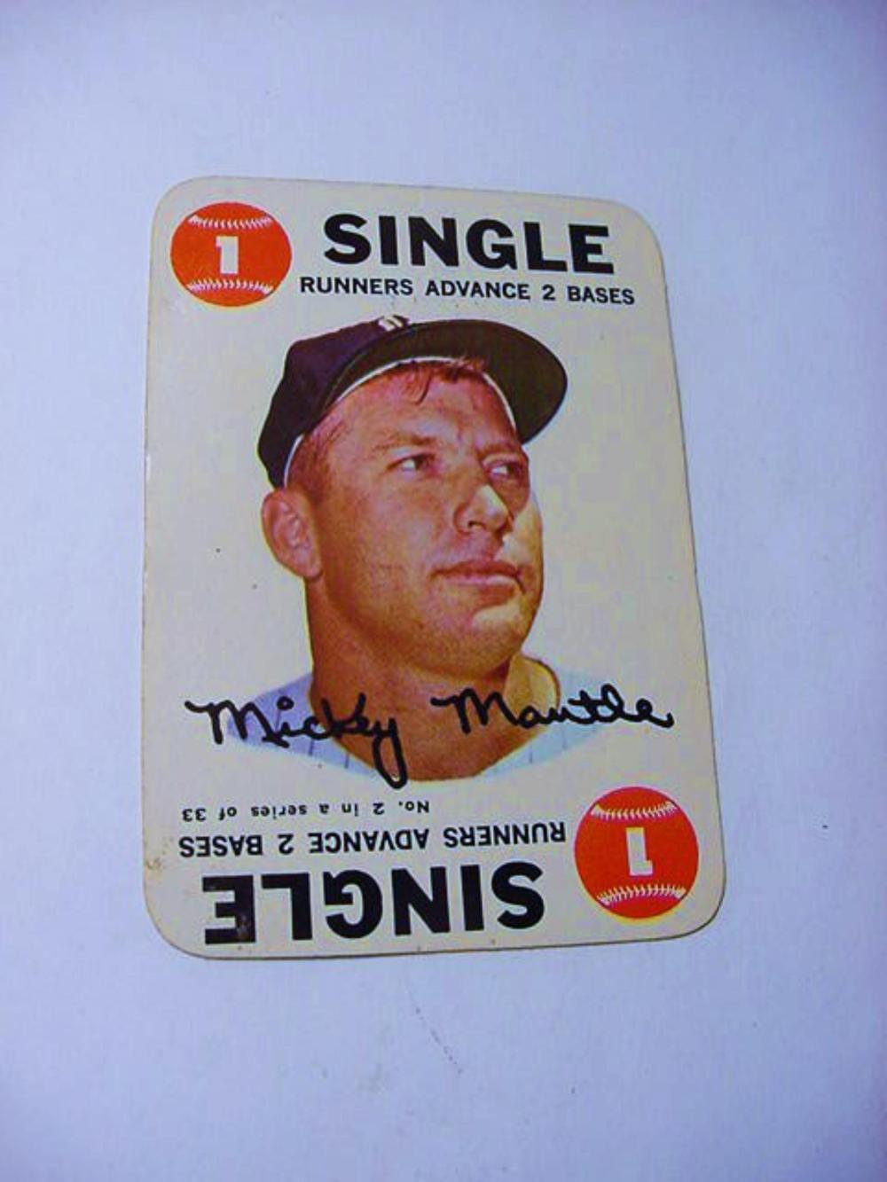 1968 Topps 2 Mickey Mantle Baseball Card