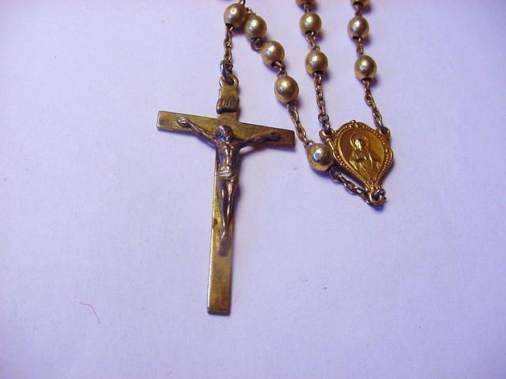 Vintage Gold Filled Rosary