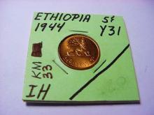 1944 ETHIOPIA 5  C  B.U.