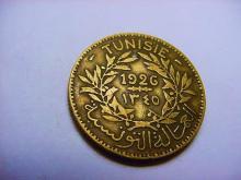 1926 TUNISIA 2 FRANCS