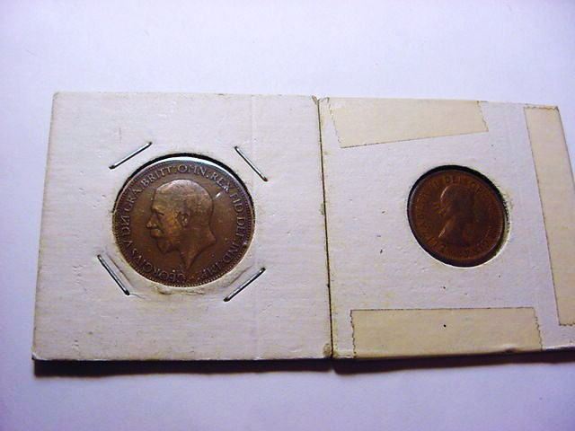 1929 BRITISH HALF PENNY , 1962 CANADA ONE CENT
