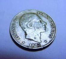 1885 PHILIPINES 20 CENTAVOS