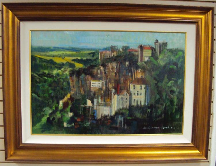 ROCAMADOUR (FRANCE) - An Original Oil Painting by Alex ZWARENSTEIN