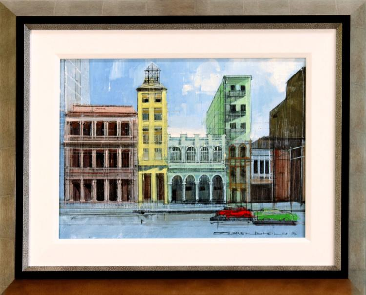 HAVANA FACADES - An Original Oil on Canvas by Alex Zwarenstein