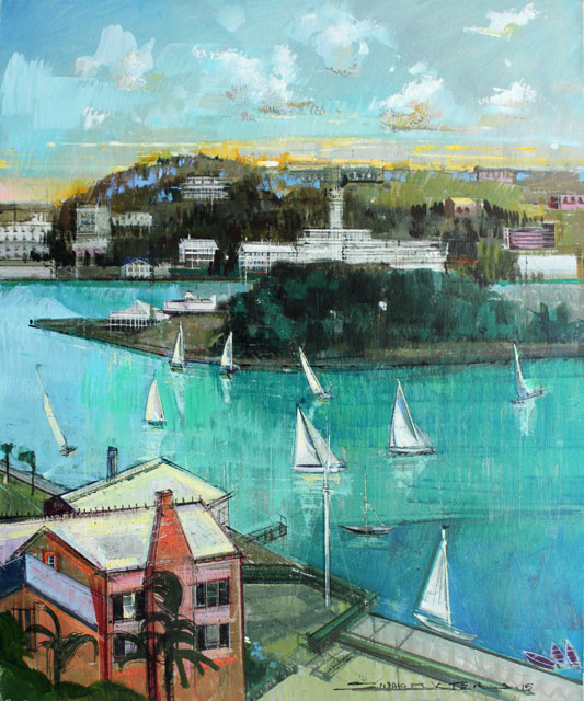 BERMUDA SAILING is an Original Oil Paining on Canvas by Alex ZWARENSTEIN