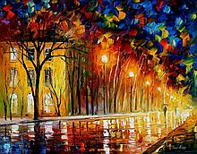 INNER WARMTH is an ORIGINAL ONE-OF-A-KIND Oil Painting on Canvas by Leonid Afremov
