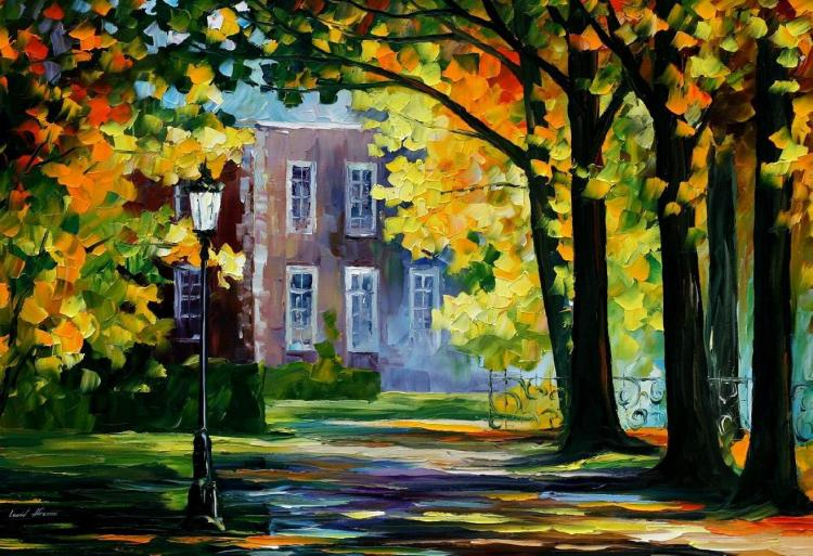 SUMMER HOUSE is an ORIGINAL ONE-OF-A-KIND Oil Painting on Canvas by Leonid Afremov
