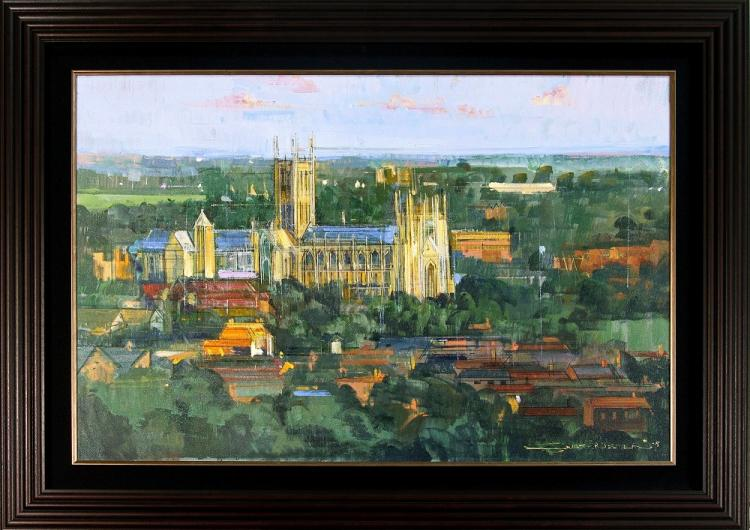 CANTERBURY CATHEDRAL is an Original Oil Paining on Canvas by Alex ZWARENSTEIN