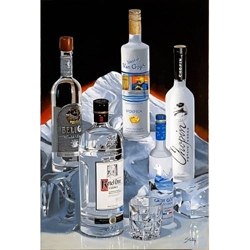 VODKA ON THE ROCKS (36 x 24) by Thomas Stiltz