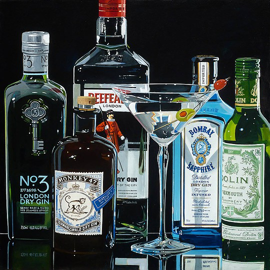 THE DRY MARTINI (20 x 20) by Thomas Stiltz