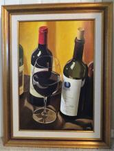 UNCORKED is an Original Oil on Canvas by Thomas Stiltz, 2003