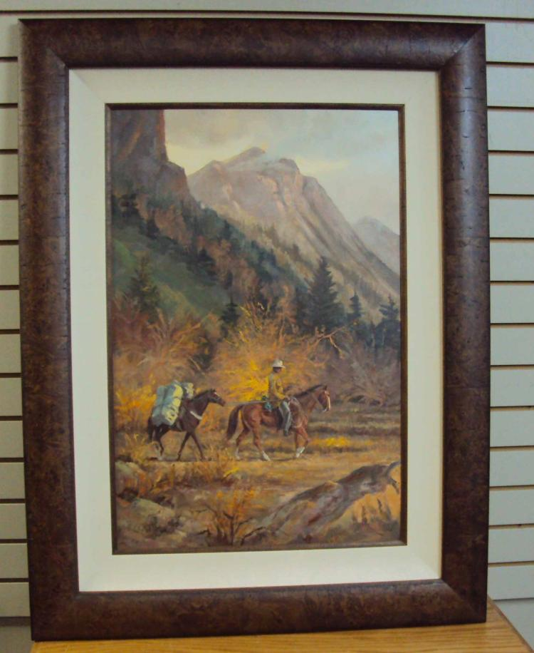 Shades of autumn by mark ogle is an original oil on board for Firerock fireplace prices
