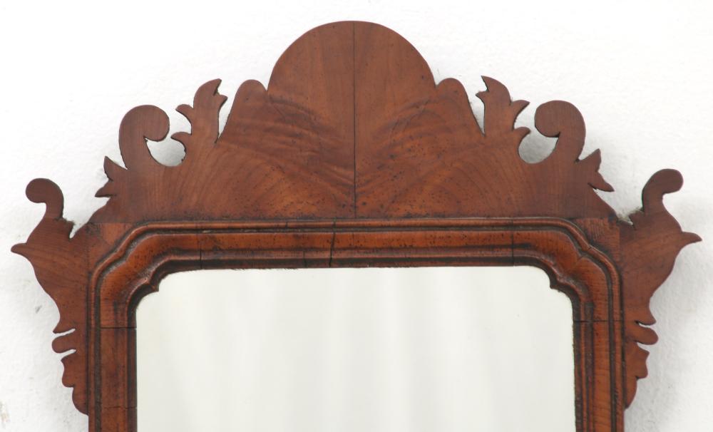 American Chippendale Walnut Mirror