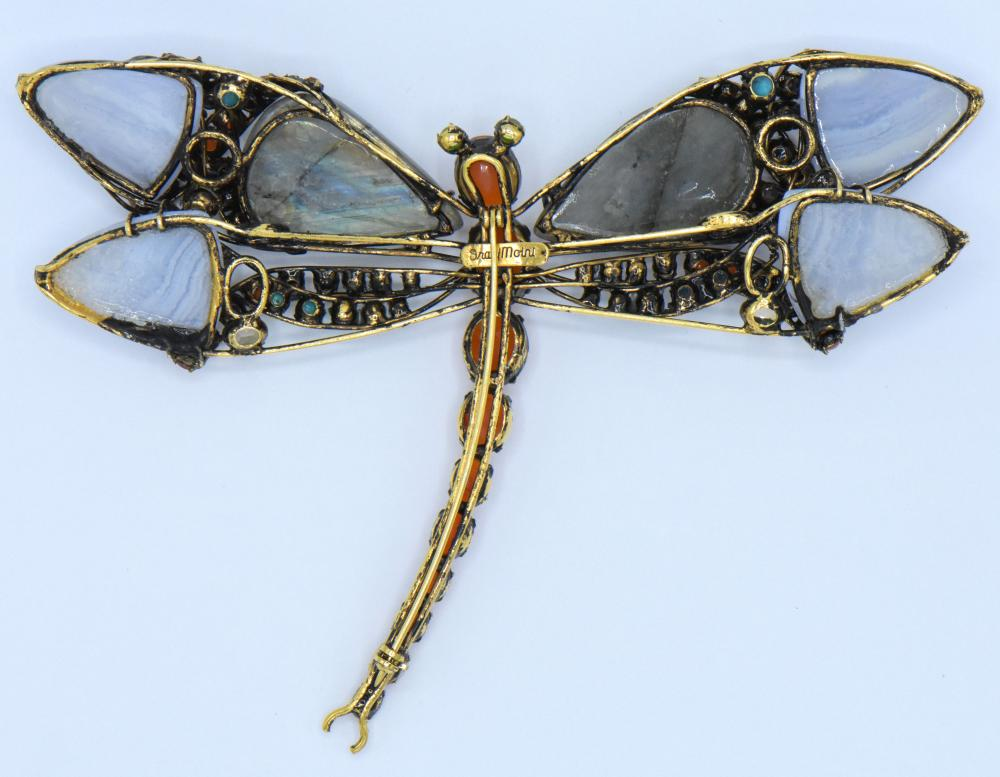 Iradj Moini Gemstone Dragonfly Brooch