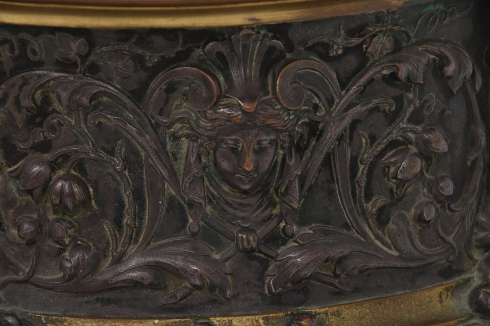 French Neoclassical Bronze Table Casket