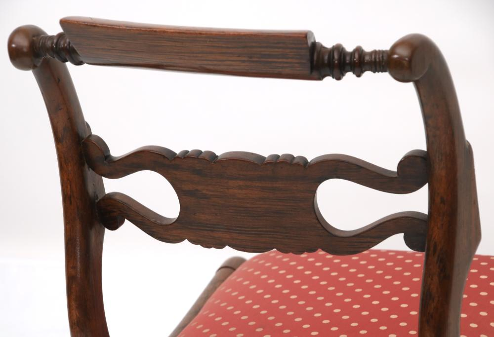 Set of Eight Regency Rosewood Dining Chairs