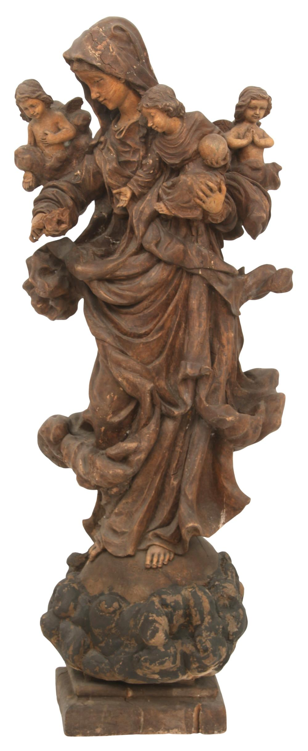 18th Century Figural Wood Carving