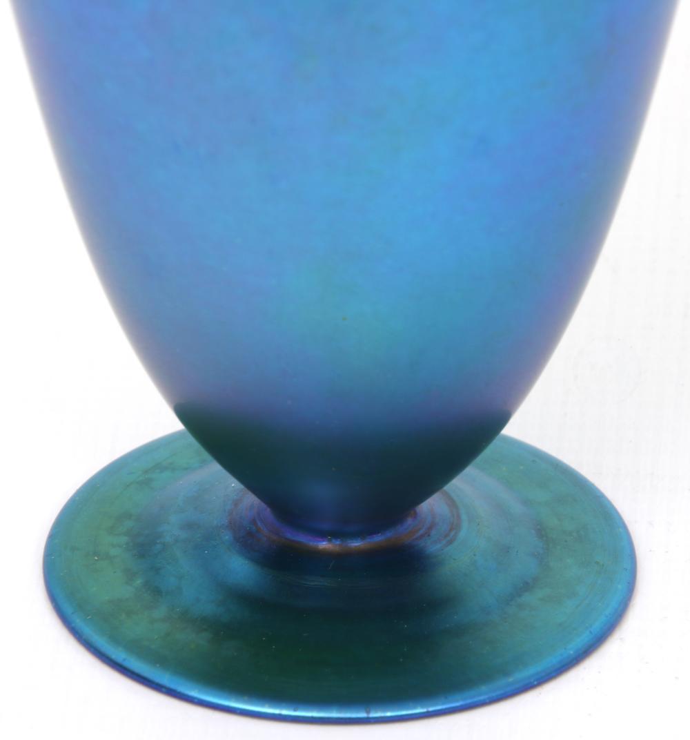 Quezal Iridescent Glass Vase
